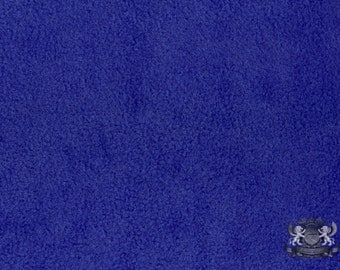 """Fleece SOLID Royal Blue 10 Fabric / 58"""" Wide / Sold by the yard"""