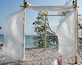 Wedding Arch Beach Bamboo Chuppah Fabric