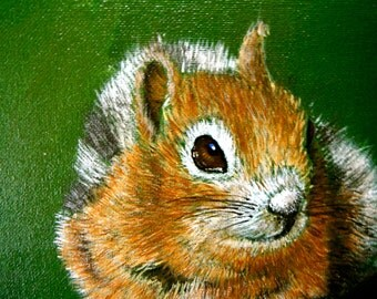Chipmunk Painting