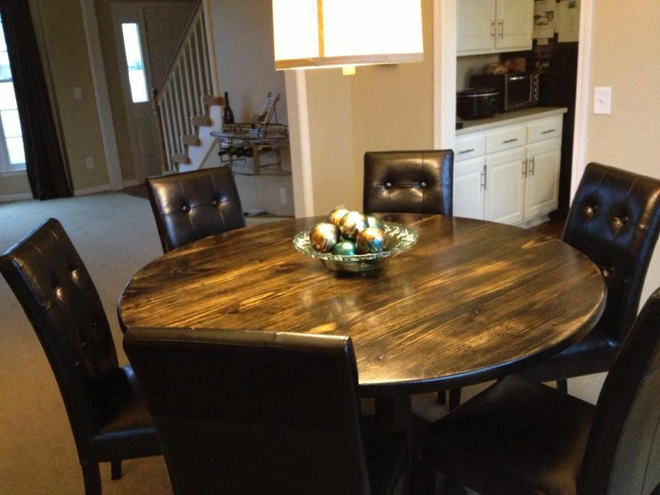 Round Farmhouse Table Customizable