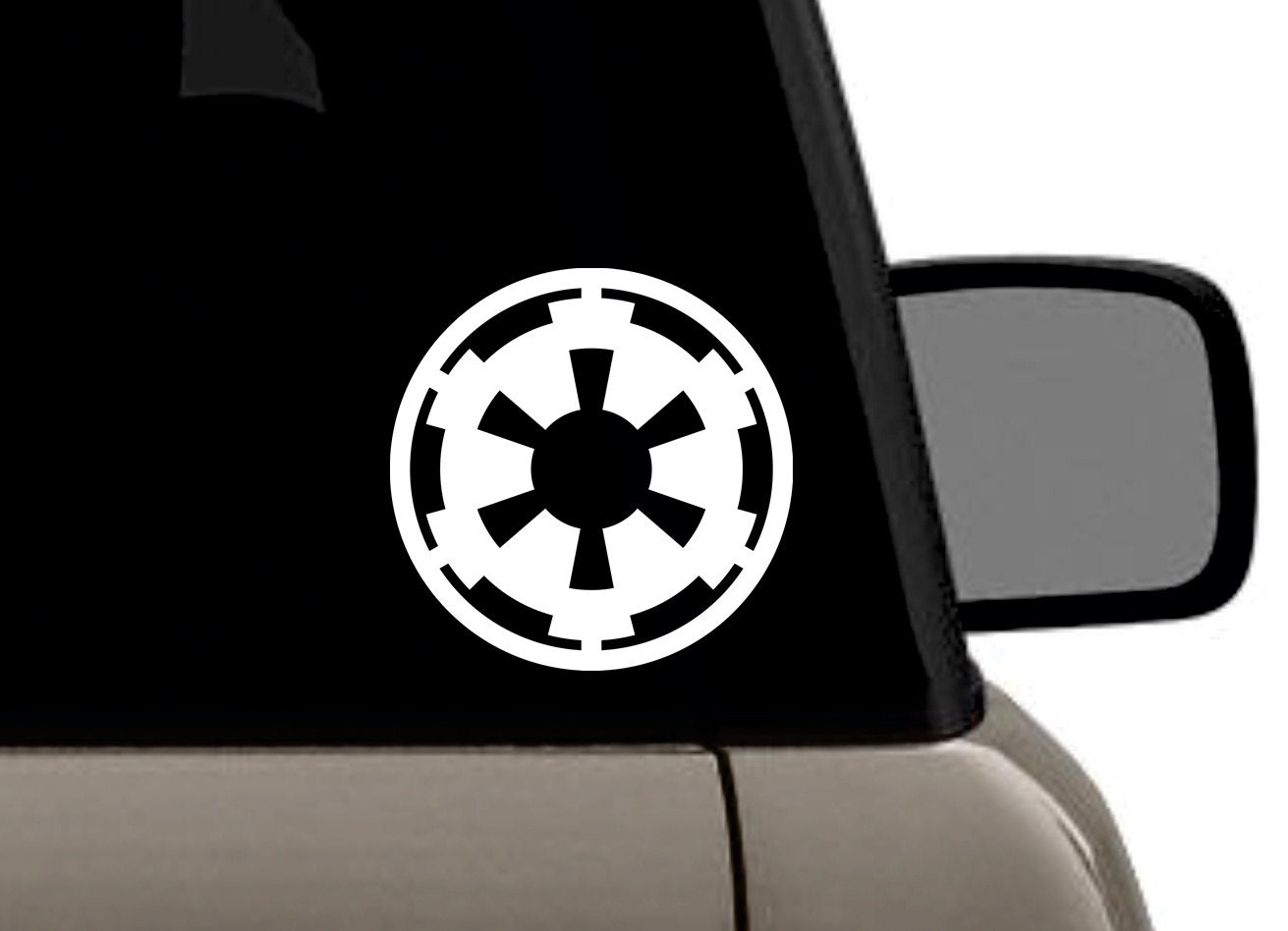 star wars imperial galactic empire logo vinyl decal bumper. Black Bedroom Furniture Sets. Home Design Ideas