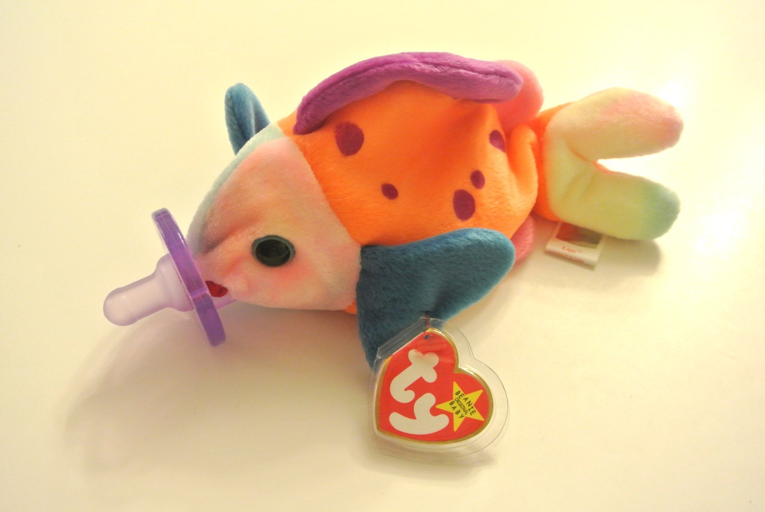 Fish lips baby beanie buddy with pacifier for Fish beanie baby