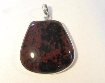 Vintage Bloodstone sterling silver pendant jewelry