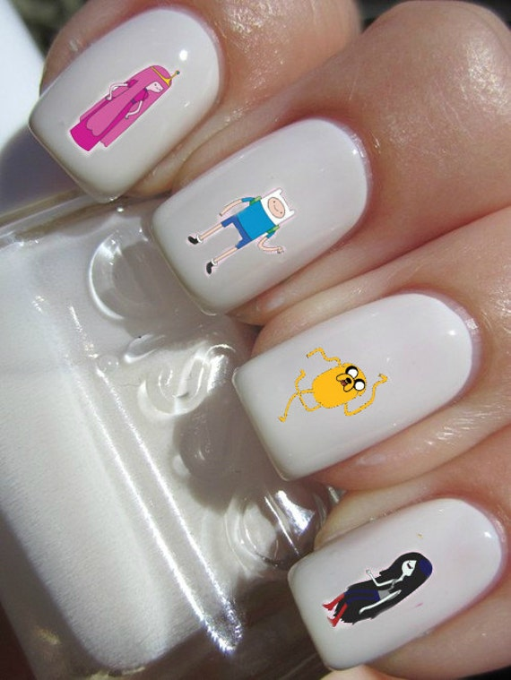 Adventure Time Nail Decals by