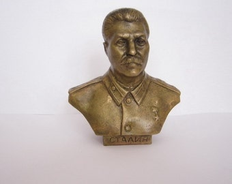 Bronze Bust Stalin Figure