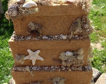 """Sand Castle """"Washed Ashore"""" Gift Card Box"""