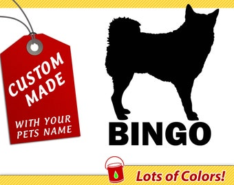 Personalized Akita Breed Vinyl Decal with Your Dogs Name - Any Color - Custom Akita Dog Sticker