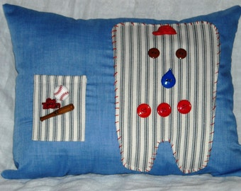 Tooth Fairy Pillow,  Baseball Tooth Fairy Pillow,