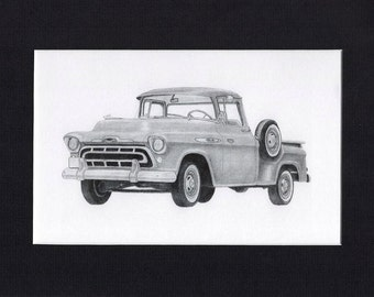 car art of a 1957 Chevrolet Pick Up