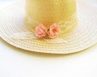 Sunflower  hat-Sun-Summer hat sun -Women's Wide Brim - Floral hat- Beach- Pool hat