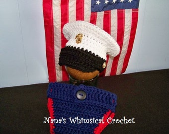 Marine's Dress Blues Hat PDF pattern