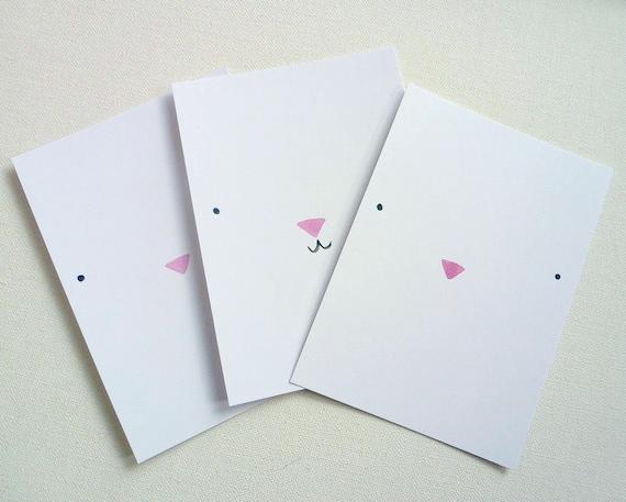 Kawai kitty cards