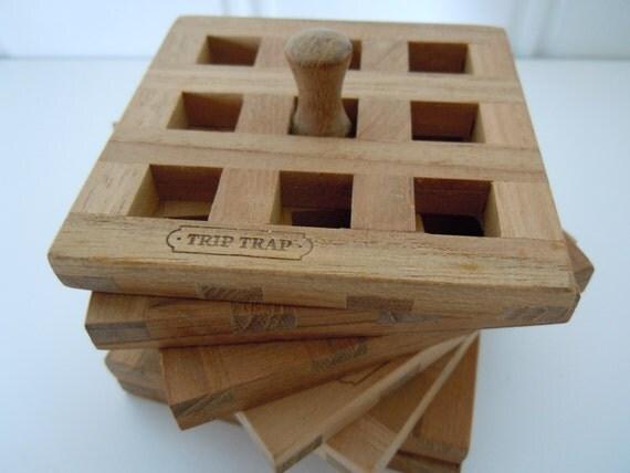 trip trap skagerak 6 teak coasters danish by lovefromscandinavia. Black Bedroom Furniture Sets. Home Design Ideas