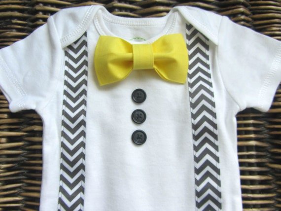 Baby boy clothes infant bow tie boys first birthday for Baby shirt and bow tie