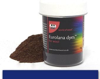 Blue - Eurolana Wool Dye - Hand Dye Your Own Wool - Roving/Top