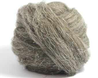 Dark Grey Herdwick Top / Roving - Felting - Spinning - Crafts - 100g / 3.5oz