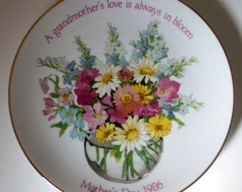 Vintage Designers Collection American Greetings Mothers Day 1986 Collector Plate Always In Bloom