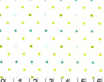 Tiny Dots Fabric - Andalucia by Patty Young  for Michael Miller DC 3904-WHIT-D - 1/2 yard