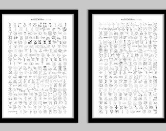 Five Hundred and Seven Mechanical Movements Poster Set