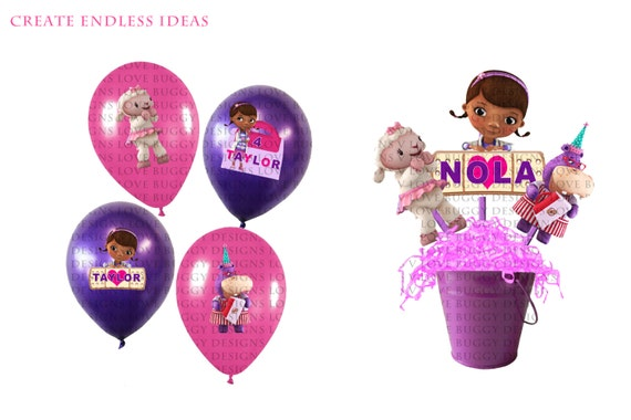 Items Similar To Doc Mcstuffins Balloon And Centerpiece