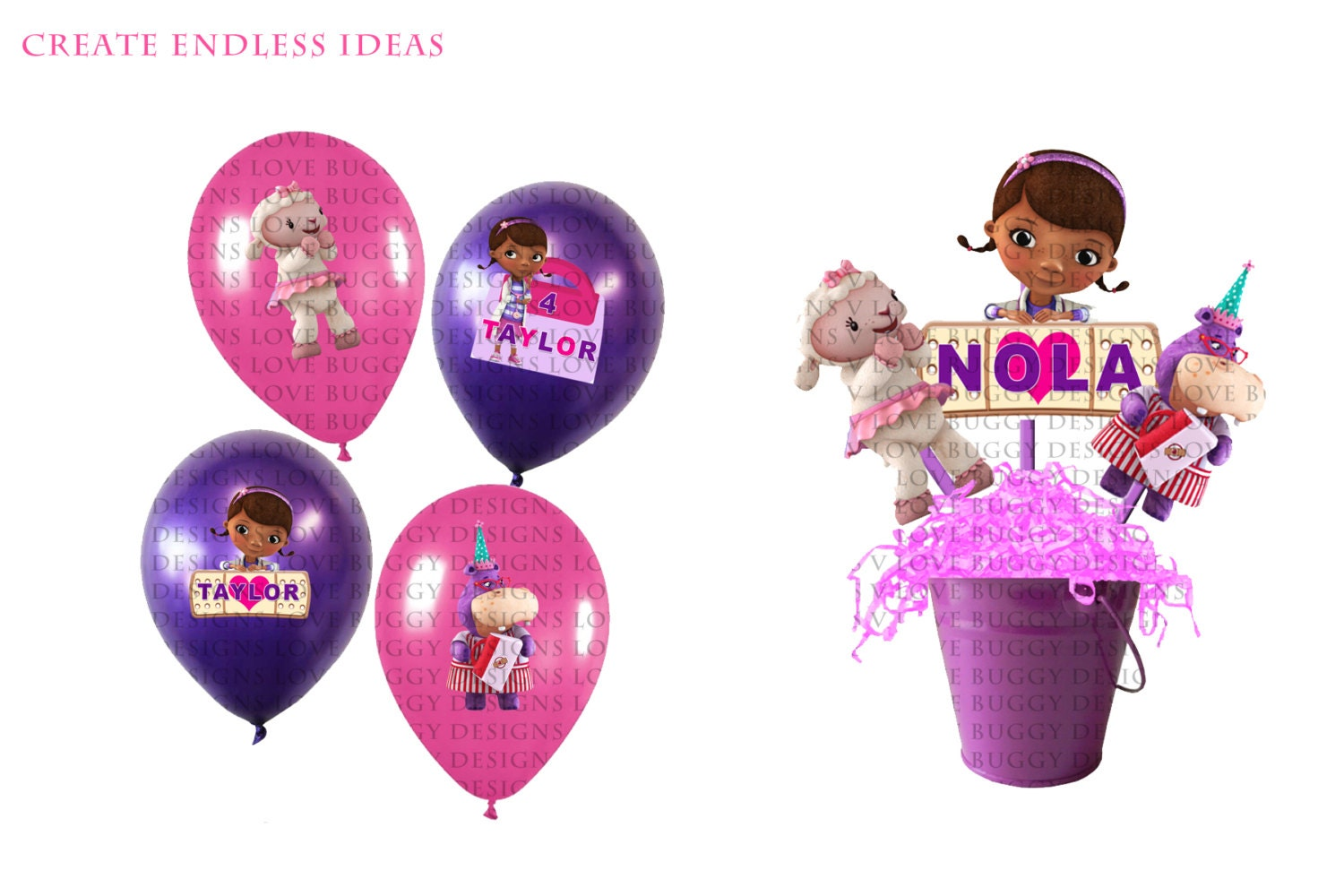 Doc Mcstuffins Balloon And Centerpiece Party Pack Etsy
