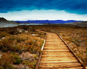 Salt Creek Interpretative Trail, Death Valley. Panoramic Fine Art Photography by Roy Hsu