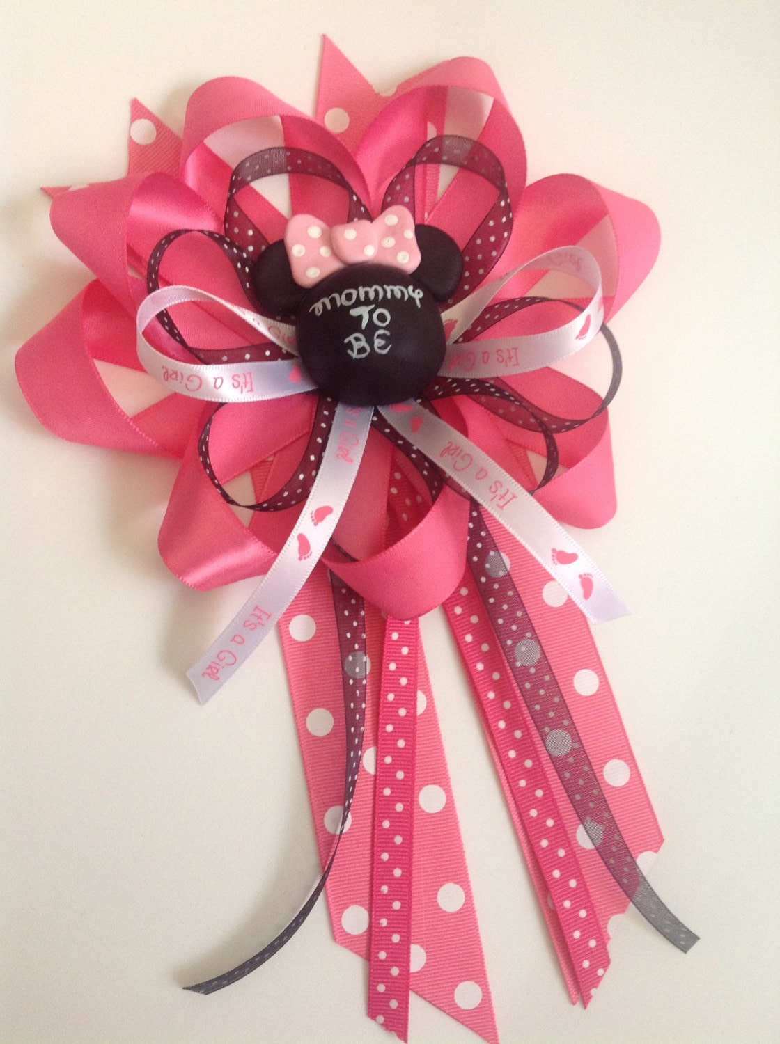 mommy to be bow for minnie mouse baby shower by marshmallowfavors