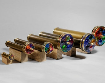 Long Wheels Kaleidoscope, Brass Kaleidoscope