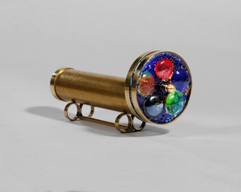 Short Medium wheels Kaleidoscope, Brass Kaleidoscope, Gift Idea