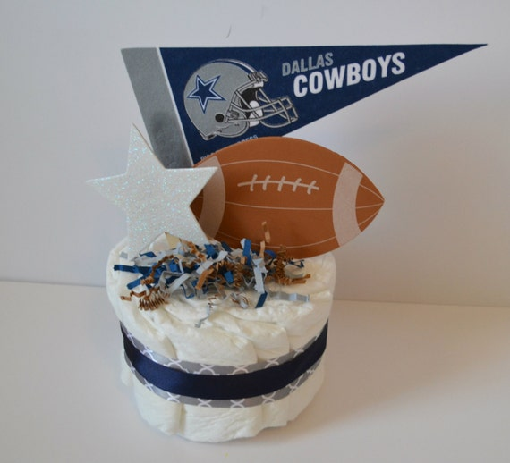 dallas cowboys football mini diaper cake football diaper cake baby