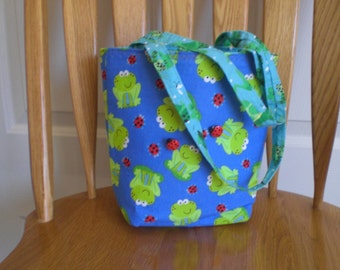 Reversible Leaping Frogs Purse