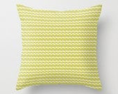Neon Yellow Geometry - Throw Pillow