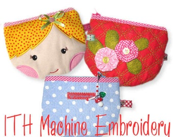 Smile Bags ITH - Machine Embroidery Design