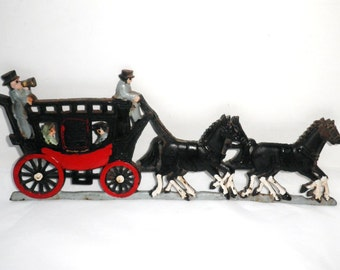 Stagecoach Wall Hanging Cast Iron