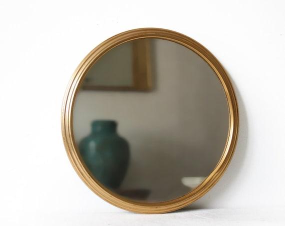 Beautiful vintage round mirror vanity tray for Antique vanity with round mirror