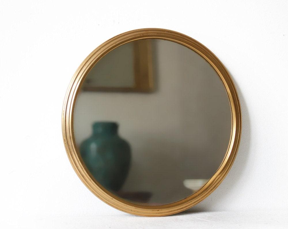 Vintage french round mirror vanity tray ashtrygutierrez for Antique vanity with round mirror