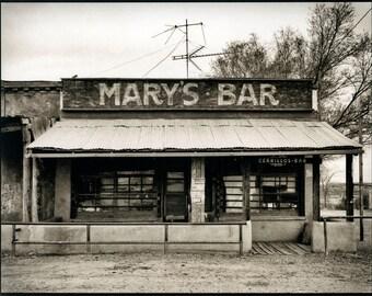 Mary's Bar, Cerrillos, New Mexico, Platinum-Palladium Print.
