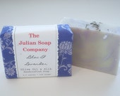 Soap - LILAC & LAVENDER Olive Oil and Silk Handcrafted Fabric Wrapped Soap