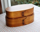 Japanese Bento Lunch Box Magewappa lacquer box natural wood Double box