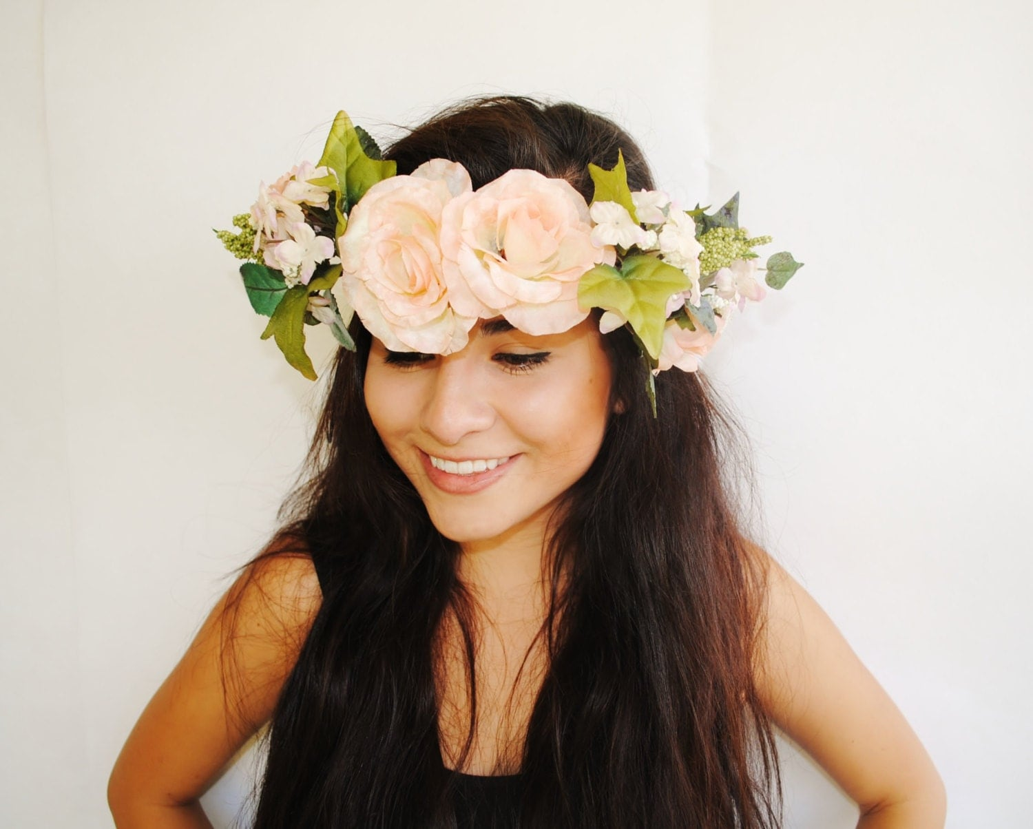 Rosa Flower Crown Floral Headband