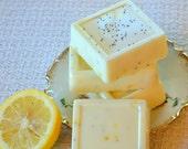 All Natural,  Lemon Poppy Seed Soap