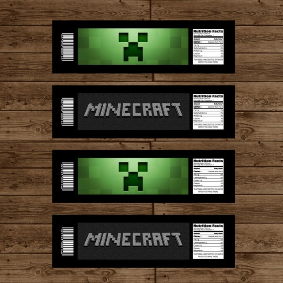 Witty image pertaining to minecraft labels printable