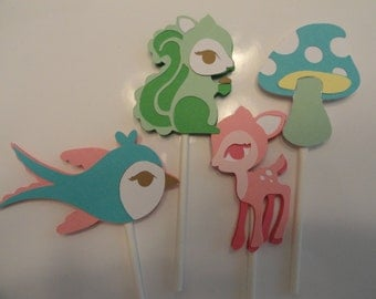Forrest Friends Cupcake Toppers