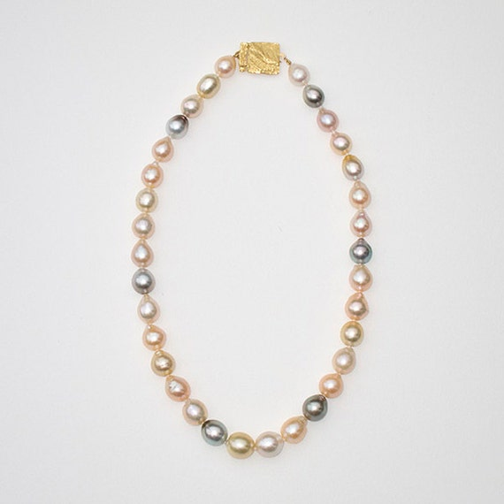 Necklace with various Pearls, 18.25 inches