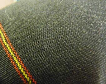 "60"" black wool gabardine"
