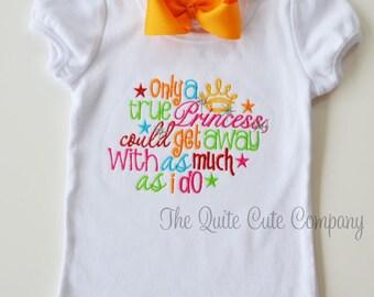 Custom Girls Sassy Princess Shirt