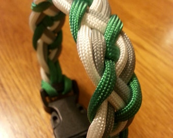 items similar to celtic braid paracord bracelet with knot