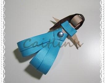 Princess (Jasmine) Ribbon Sculpture Alligator Hairclip (Children/ Girls/ Handmade Accessories)