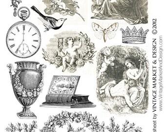 Creative Curio Collage Sheet  No.3369A