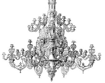 Victorian Chandelier No.0155- Image Download